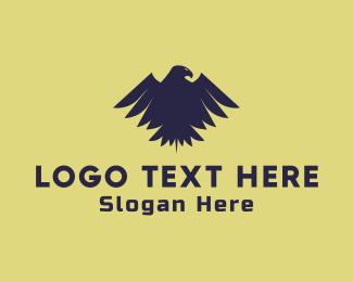 Sigil - Blue  Raven logo design
