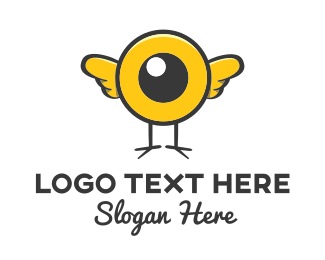 Cartoonish - Eye Bird logo design