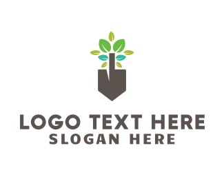 Renovation - Leafy Shovel logo design
