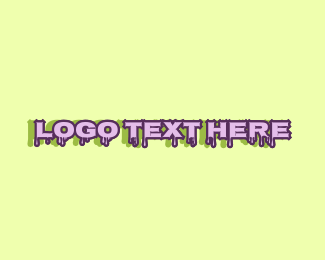 Gooey - Purple Slime Text logo design