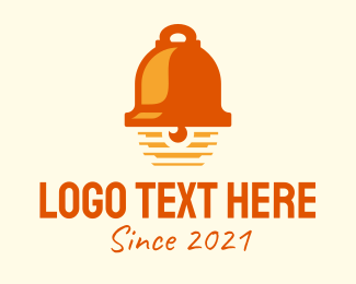 Doorbell - Orange Bell Ringer  logo design