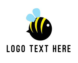 Sting - Round Bee logo design