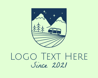 Recreational Vehicle - Blue Mountain Outdoor  logo design