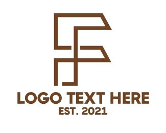 Draftsman - Industrial F Outline logo design
