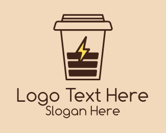 Battery Charger - Coffee Cup Charger logo design
