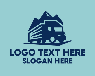Shipping Company - Truck Mountain logo design