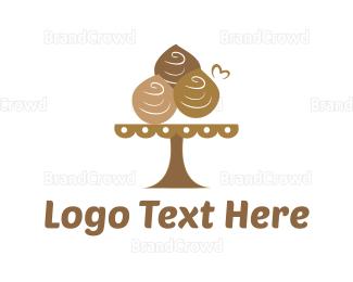Dessert - Chocolate Dessert  logo design