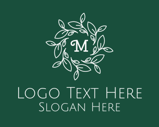 Natural Therapy - Laurel Lettermark logo design