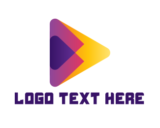 Player - Colorful Media Player logo design