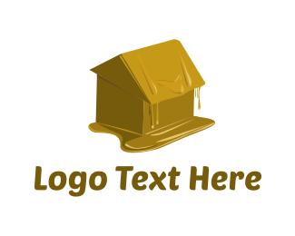 Melting - Wax House logo design