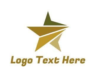 Shooting Star - Polygon Star logo design