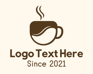 Classic Coffee - Brown Coffee Cup logo design