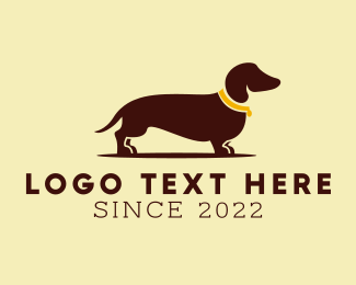 Dog Shelter - Dachschund Dog logo design