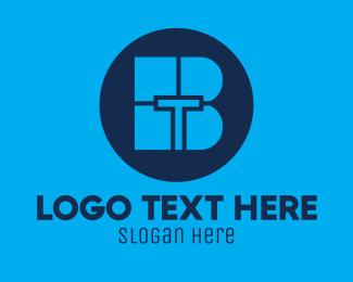 Bt - Blue Tech BT logo design