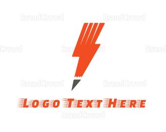 Biography - Pen Storm logo design