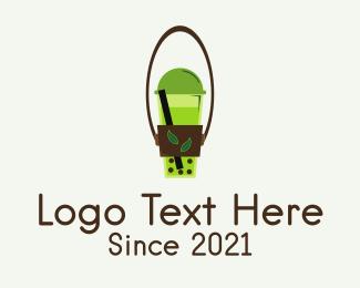 Milkshake - Organic Milk Tea logo design