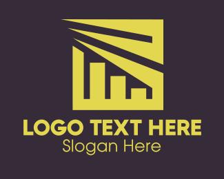Businessman - Gold Business Company Chart logo design