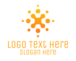 Anti-bacterial - Abstract Orange Business Company logo design