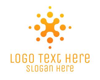 Consultant - Abstract Orange Business Company logo design