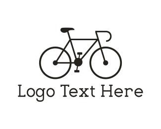 Cycling - Black Bicycle logo design