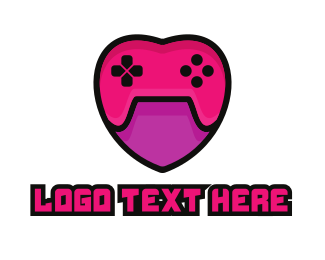 Game Review - Feminine Heart Gamer logo design