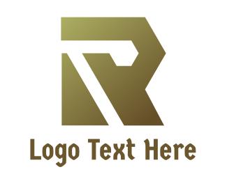 Fabrication - Gradient Polygon R logo design