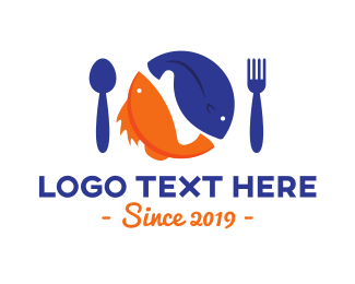Orange Spoon - Seafood Restaurant logo design