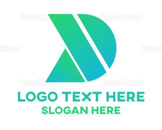 Engineering - Green Shape D logo design