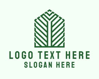 House - Greenhouse Structure logo design