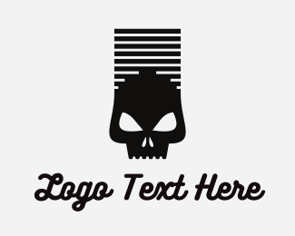 Cigarette - Smoked Skull Stack logo design