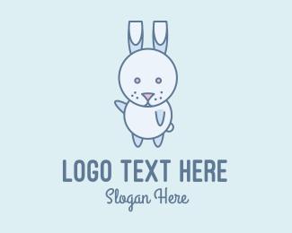 Dancing - Cute Dancing Rabbit logo design
