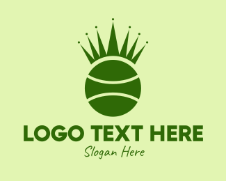 Tennis Championship - Tennis Ball Crown  logo design
