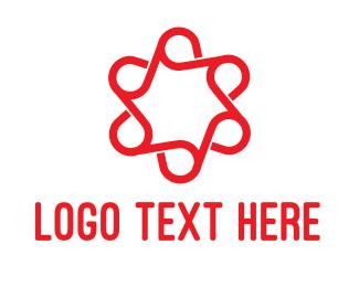 Florist - Abstract Flower Star logo design