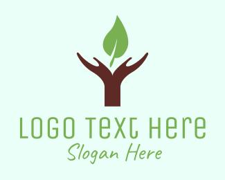 Soap - Hands & Leaf logo design