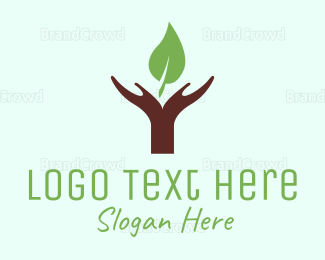 Ecosystem - Hands & Leaf logo design