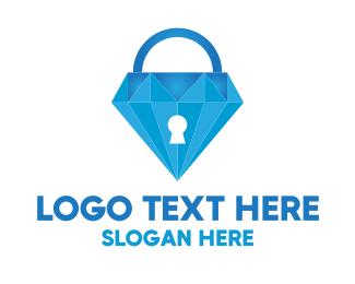 Lock - Diamond Lock logo design