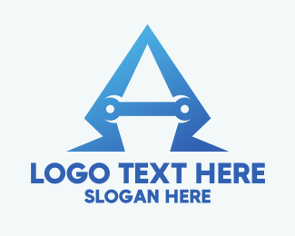 Hardware Store - Repair Letter A logo design
