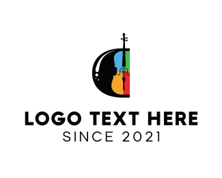 Orchestra - Colorful Guitar  logo design