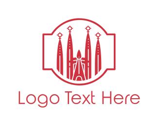 Skyscraper - Barcelona Church logo design