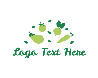 Carrot - Green Vegetables logo design