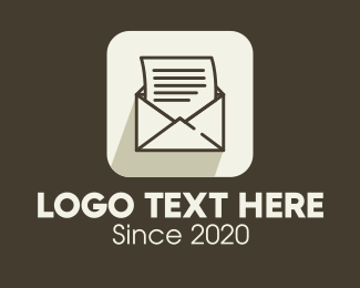 Typography - Mail App Icon logo design