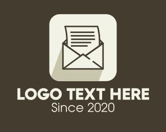 Typography - Mail App Icon logo design
