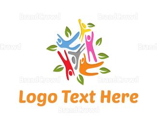 Community - Colorful Community logo design