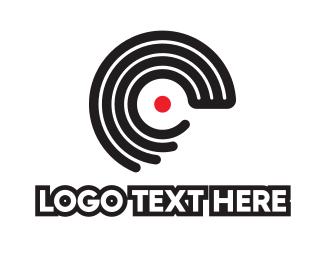 Alpahbet - Disc Outline C logo design