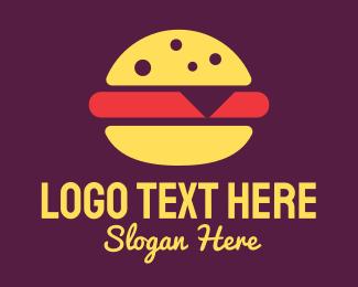 Dinner - Fast Food Burger logo design