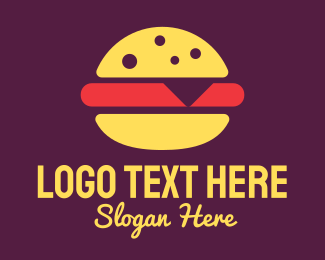 Burger - Red Burger logo design