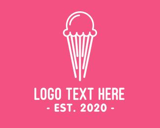 Ice - Jellyfish Ice Cream logo design