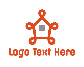 Orange House - Fancy Orange House logo design
