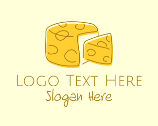 Dessert - Cheese Block Outline logo design