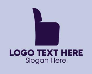 Furniture Design - Chair Armchair Thumbs Up  logo design